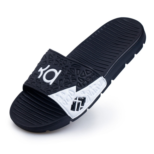 0d1163a97c38 WOLF WHO Men Casual Kevin Durant Sandals Slippers Flat Slides Mans Footwear  Outdoor Shoes Beach EVA