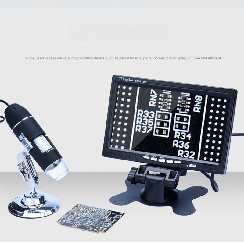 AIBOULLY AC 1000 Digital Microscope With LED Light 7 Inch Screen Included Electron Microscope Repair Tool