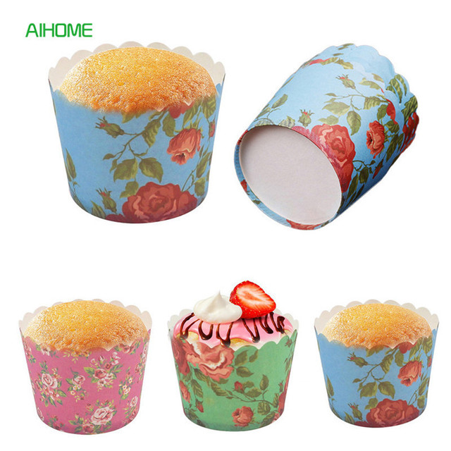 24pcs Lot Heat Resistant Baking Cupcake Liners Paper Muffin Cups