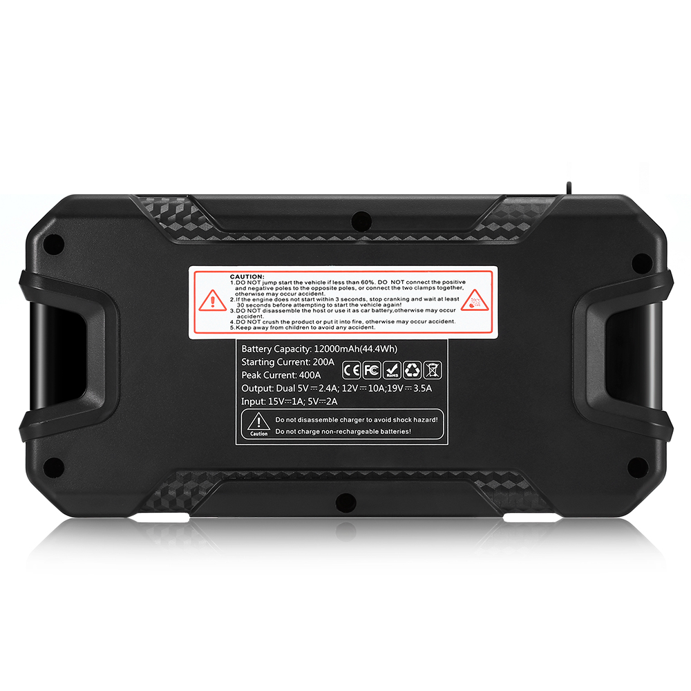 12000 mAh Multifonctionnel Voiture Jump Starter batterie externe De Voiture amplificateur de batterie dispositif intelligent Chargeur Dispositif de Démarrage led SOS Lumière - 4