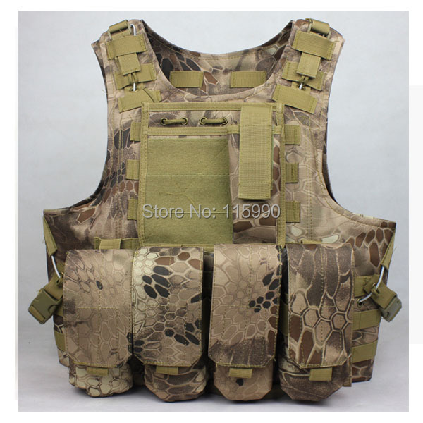Airsoft vest military molle vest swat modular tactical vest military Highlander Paintball Vest Tactical gear
