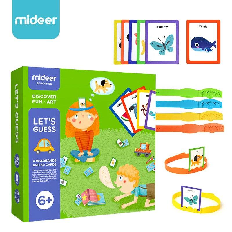 Let's suppose que interactif pour les enfants puzzle table jeux de société carte cognitive jouets partie gussing jeu pour enfants amusant art pla