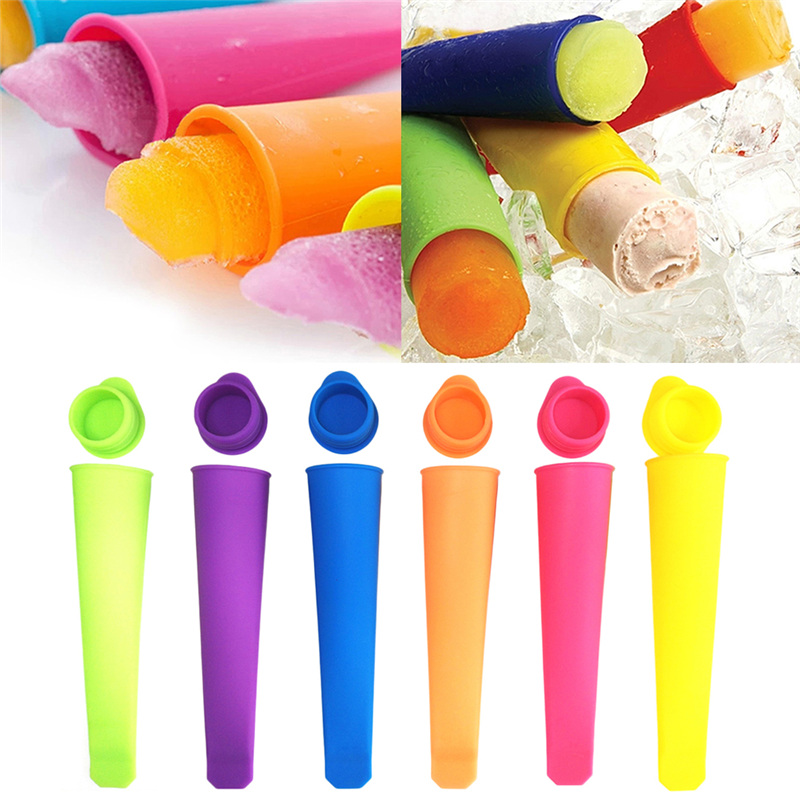 Candy Color Silicone Ice Cream Mold Handheld Popsicles Mould DIY Ice Cream Makers Push Up Ice Cube Lolly Silicone Mould