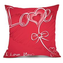 happy valentine pillows cover fashion printing home bedroom decor pillow case sofa waist throw cushion sweet