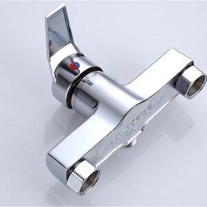 Image 2 - 1 pc お風呂シャワーの蛇口コールドとホット水耐久性のある亜鉛合金ウォールマウント水制御バルブ混合弁浴室蛇口