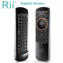 Originale 3 in 1 Rii i25 2.4G Mini Wirless Air Mouse Tastiera Con Telecomando IR di Controllo PC Teclado Per tablet Astuto di Android TV Box