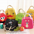 2016 Printing Child Oxford Thermal Lunch Box Bags Teenage Girls Boys Picnic Insulated Cooler Bag Storage Tote Cartoon Duck Bags