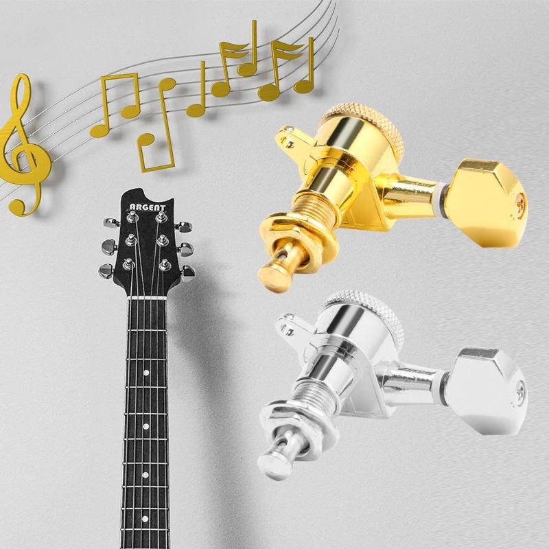 6pcs 6R String Tuning Pegs Locking Tuners Keys Machine Heads for Acoustic Guitar String Tuning Locking Tuner Heads Button