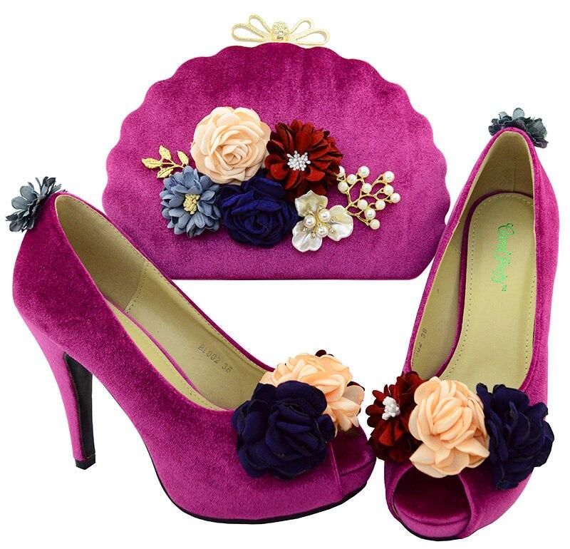 Новое поступление Цвет Для женщин итальянская обувь и Сумки комплект продаж в Женская обувь и сумочка объединения Супер Высокий каблук bl002
