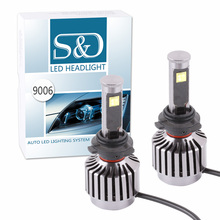 2PCS New All-in-one design 60W 6,000Lm HB4 9006  Cree Led Chip Headlight Bulbs Conversion Kit – Plug & Play 30W Each Bulb D020
