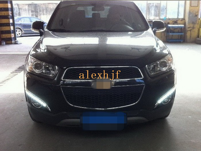 July King LED Daytime Running Lights DRL with Fog Lamp Cover case for Chevrolet Captiva SUV 2011~13 1:1, 9LED, free shipping july king led daytime running lights drl with fog lamp cover led fog lamp case for lander rover freelander ii 2011 13 1 1