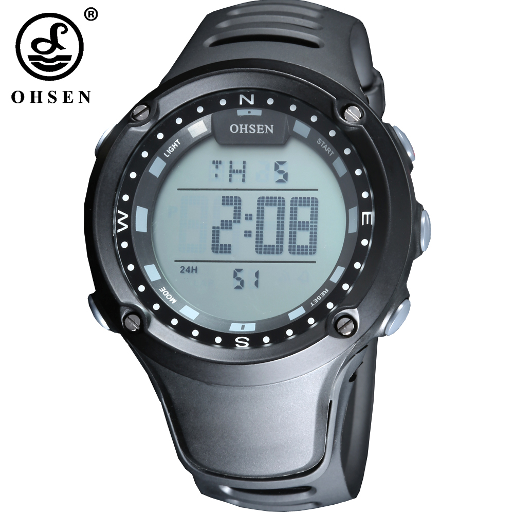 New OHSEN Brand Mens Boys Sports Watches Alarm Stopwatch Digital Watch Military LED 50m Waterproof Wristwatch Relogio MasculinoNew OHSEN Brand Mens Boys Sports Watches Alarm Stopwatch Digital Watch Military LED 50m Waterproof Wristwatch Relogio Masculino