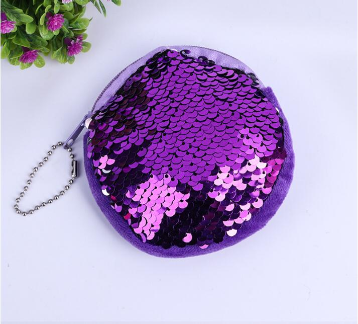 Girls Fashion Double Color Sequins cat purse coin wallet womens wallets Bag Coin Wallet Ladies Purse Pouch