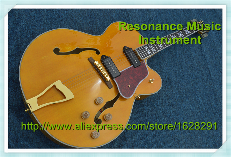 100% Real Pictures G L5 Jazz Hollow Electric Guitar Custom Guitar & Body Available hot selling g custom shop limited lp florentine jazz semi hollow body electric guitar desert burst in stock