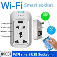 Hot Sell Wifi Smart Socket Remote Controlled USB Smart Plug EU US UK Plug Support IOS