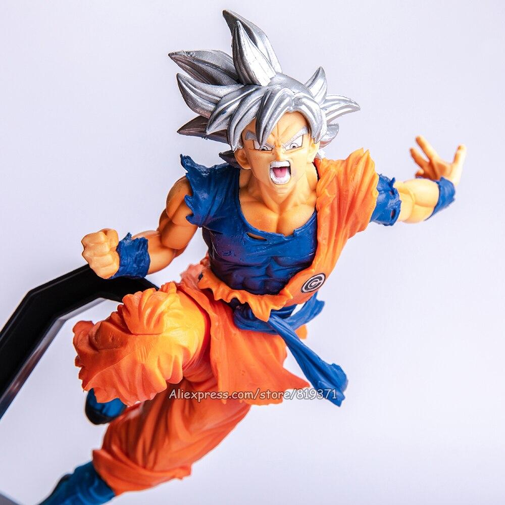 High Quality Kids Anime Dragon Ball Super Son Blue Hair Goku Figure Model Toy