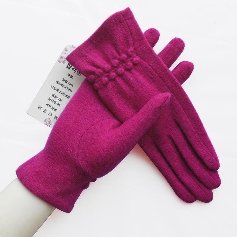 Gants de laine doux élégant chaud écran tactile