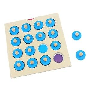 Image 3 - Çocuklar Ahşap Bulmaca Oyuncak Hafıza Maç Satranç Oyunu Mavi Bellek Satranç Çocuk Erken Eğitim Aile Partisi Masa Oyunu Çocuklar için