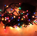 2pcs Led string light 4M 100led  AC220V colorful holiday led lighting waterproof outdoor decoration light christmas light