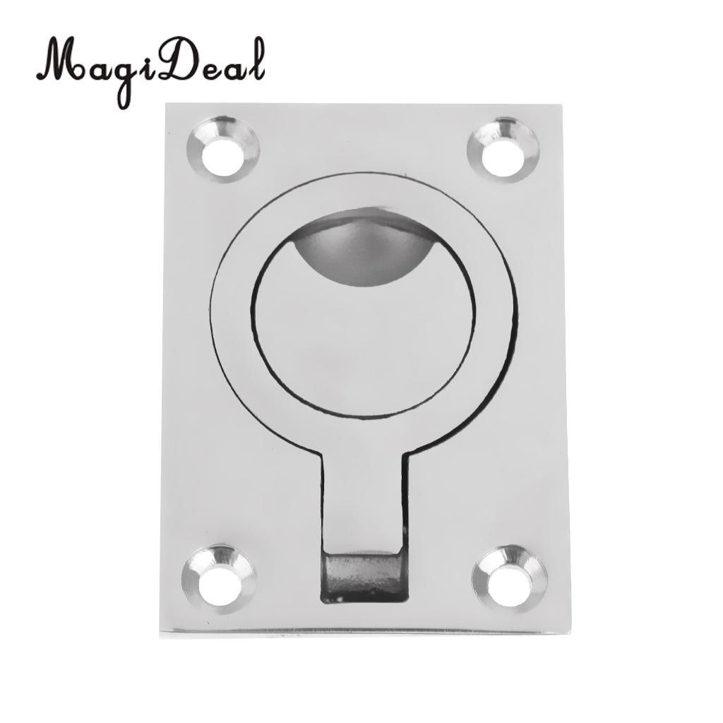 316 Stainless Steel Boat Hatch Latch Cabinet Flush Mount Ring Pull Handle
