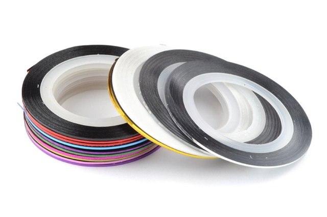 Free Shipping Wholesale 20 Color Available,100pcs/carton, 10 carton/lot Nail Art Tips Striping Tape Decoration