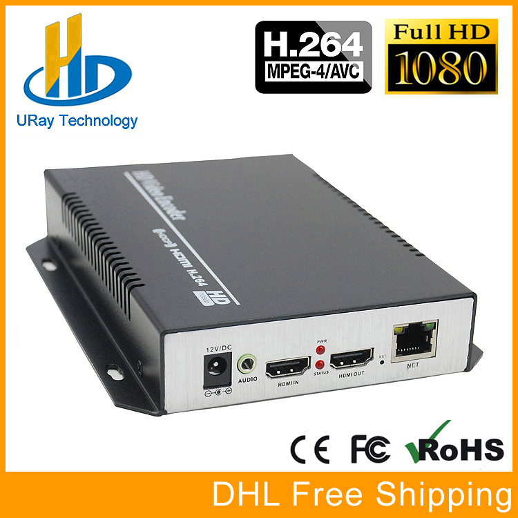 купить DHL Free Shipping H.264 HD HDMI Encoder for IPTV, IP Encoder H.264 Server IPTV Encoder RTMP /UDP HDMI to IP Audio Video