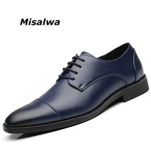 Misalwa Shoes Men Large Size 37-48 Black Lace Dress Boys Leather Classical Style Wedding Office Male Social Shoe Freeship