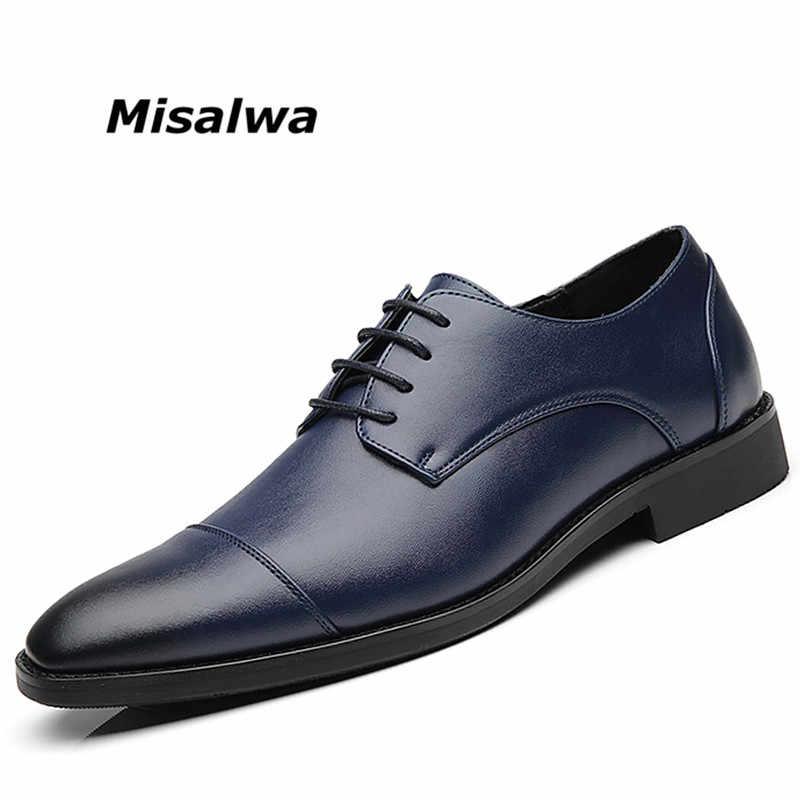 Zapatos Misalwa Para Hombre Tallas Grandes 37 48 Zapatos Negros De Encaje Zapatos De Vestir Para Ninos De Cuero Estilo Clasico Para Boda Oficina Calzado Social Para Hombre Envio Gratuito Zapatos Formales Aliexpress