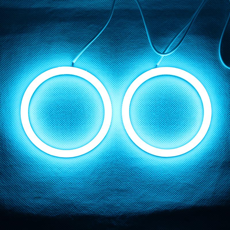 Prix pour RGB Ange Yeux Coton Lumière LED Lumière DRL Sans Fil IR Contrôleur Pour Phares Brouillard Lumière Lampe De Moto-Une Paire