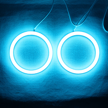 RGB Angel Eyes Cotton Light LED Light DRL Wireless IR Controller For Headlights Fog Lamp Motorcycle Light – One Pair