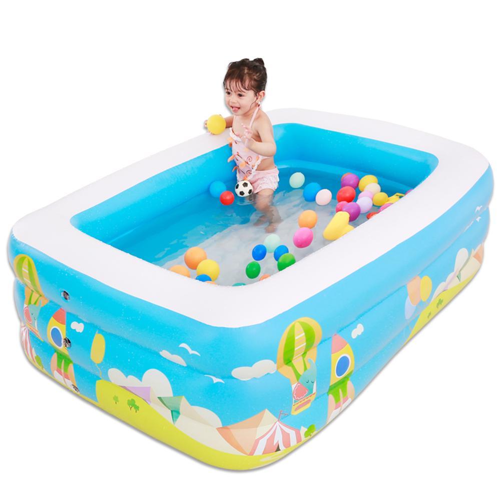 Nouveaux enfants piscine gonflable Sports nautiques famille piscine gonflable garçons et filles divertissement intérieur pataugeoire
