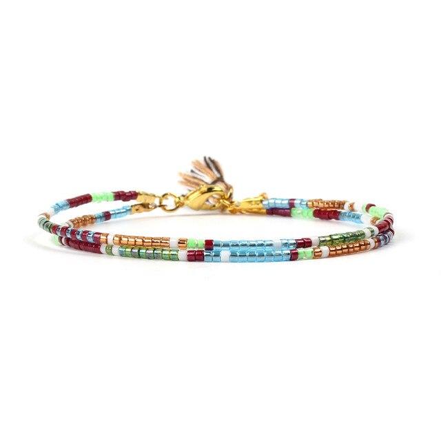 Go2boho MIYUKI Beads Bracelet Friendship Women Bracelets Handmade Colorful Tassel Charms Weave Seed Beads Pulseira Jewelry Gifts