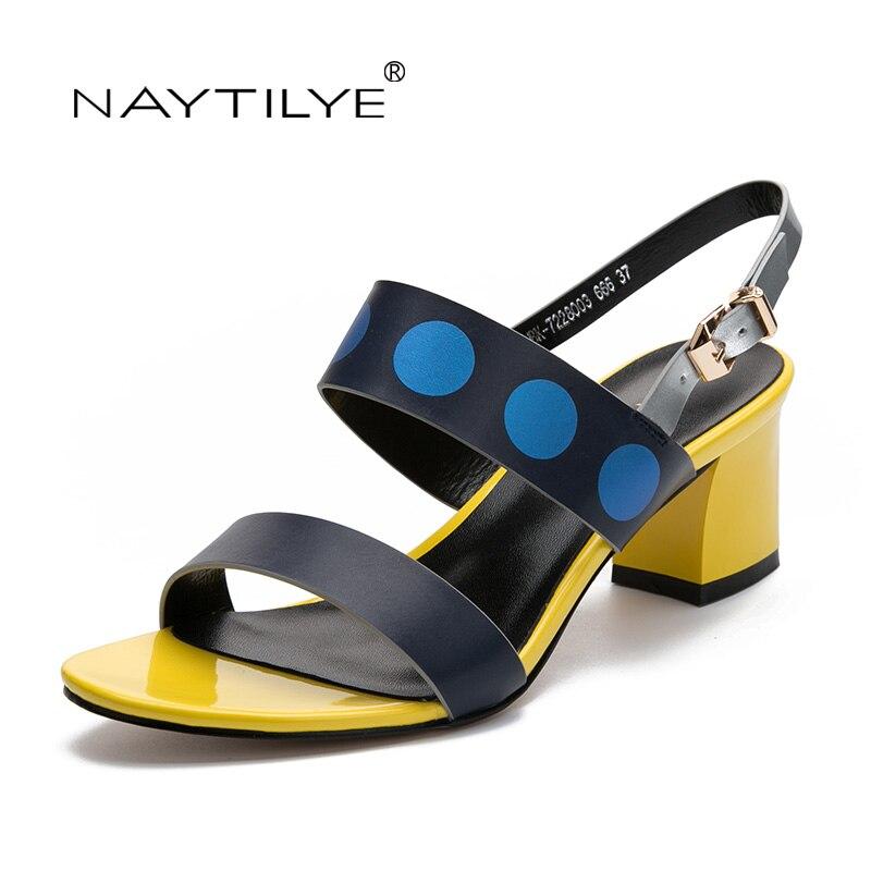 Női szivattyú szandál Szögletes sarkú cipő Női nyári divat cipő PU bőr 36-41 Ingyenes szállítás NAYTILYE