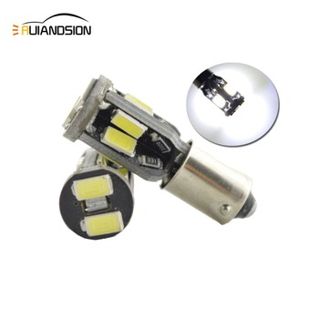 2pcs High Power BAX9S 5730 canbus H6W 10SMD clearance LED Side Turn Signals No error Reverse Lights White 12V 2pcs high power canbus error free white amber ba9s t4w bax9s h6w bay9s h21w 64136 xbd 11w led lights reverse parking bulb lamps