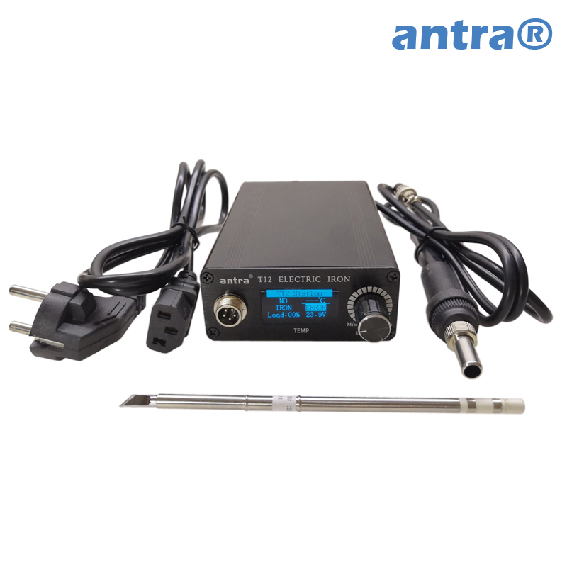 Antra Quick Heating 1 3 inch OLED T12 soldering station electronic welding iron Automatic sleep automatic