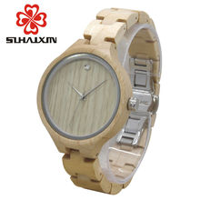 SIHAIXIN Wood Female Watch Made From Sandalwood With Luxury Edition Series of Wooden Watches Can Engraved Personal Text Clock
