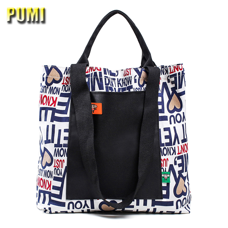 Women Cotton Canvas Printing Contrast Color Tote Bags High Quality Large Capacity Female Casual Shopping Beach Bag Shoulder Bags women canvas hobo tote bags casual shoulder bags large capacity shopping bags