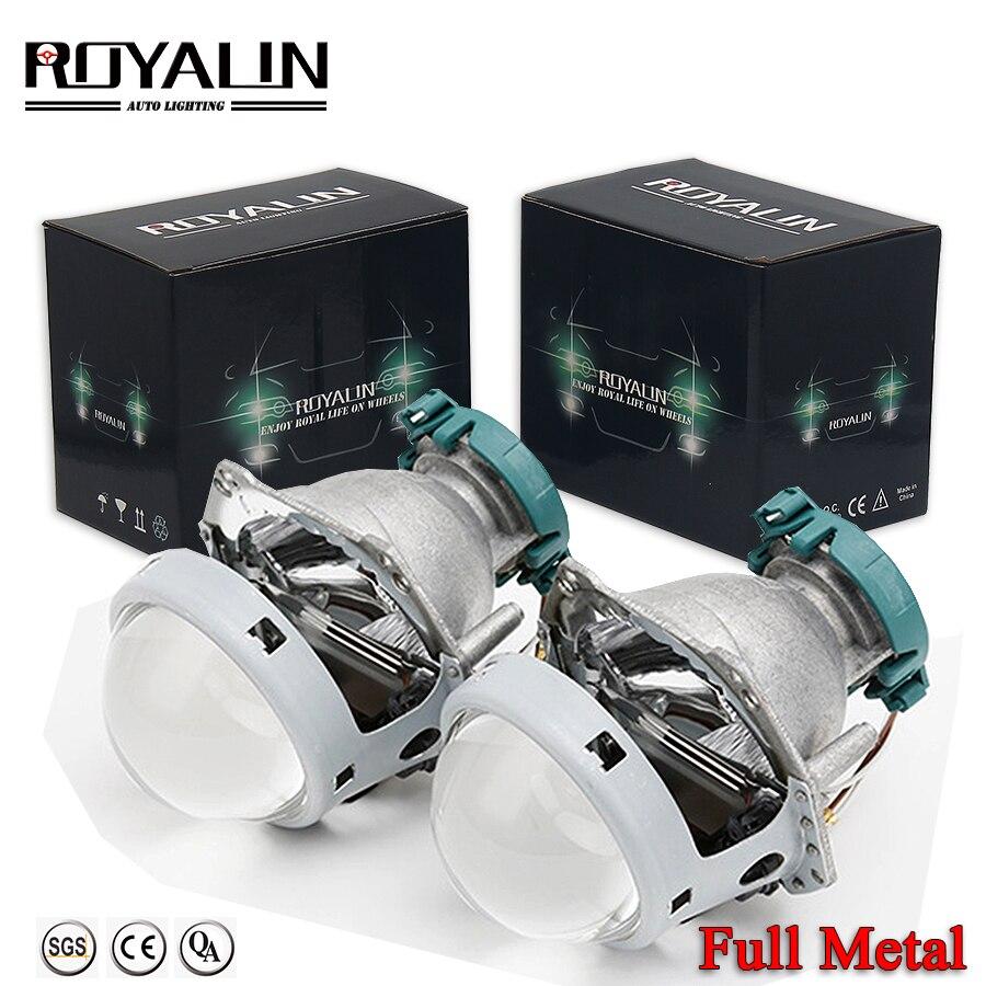 ROYALIN Metal Hella 3R G5 Bi Xenon Headlights Lens D2S Lights Projector Universal Car Lamp D1S