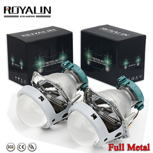 ROYALIN Metal Hella 3R G5 Bi Xenon Headlights Lens D2S Lights Projector Universal Car Lamp D1S D2H D3S D4S Bulbs Motors Retrofit 2pcs 3 0 inch hella 5 car bi xenon hid projector lens metal holder d1s d2s d3s d4s xenon kit lamp car headlight universal modify