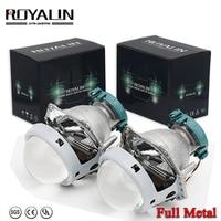 ROYALIN Metal Hella 3R G5 Bi Xenon Headlights Lens D2S Lights Projector Universal Car Lamp D1S D2H D3S D4S Bulbs Motors Retrofit
