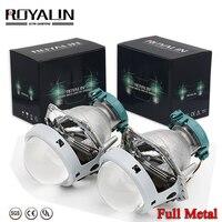 Royalin metal para hella 3r g5 bi xenon faróis lente d2s luzes do projetor lâmpada carro universal d1s d2h d3s d4s lâmpadas retrofit|Acessórios para luzes do carro|Automóveis e motos -