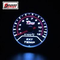52mm Ext temp medidor Pointer Car EGT Temperatura Medidor de Gás de Escape Para Moto E Carro de Escape Medidor de Temperatura Livre grátis|gauge pointer|gauge 52mm|gauge egt -