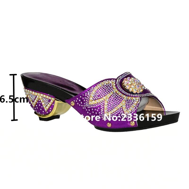 Italiennes Pour Et pourpre Femmes Ensemble argent Mariage Strass De Chaussure Ensembles Avec Sexy rose Le Africaine Or Dames Chaussures Décoré Sac I5W8w