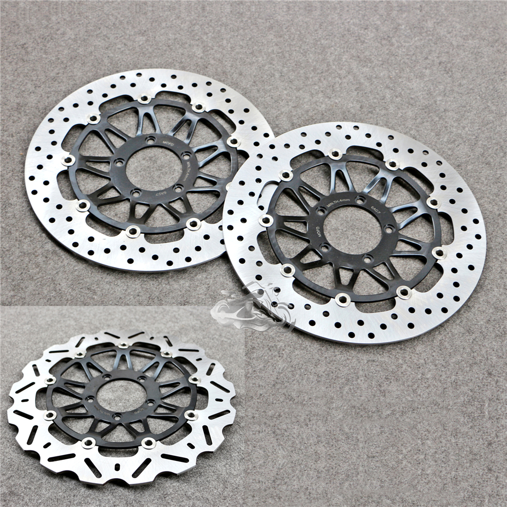 Floating Front Brake Disc Rotor For Motorcycle Ducati 749 848 998 Monster S4R 999 R/S Monster 1100 keoghs real adelin 260mm floating brake disc high quality for yamaha scooter cygnus modify