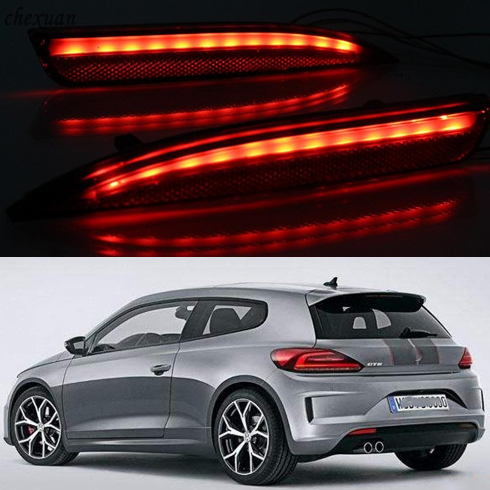 CSCSNL 1 Pair Rear Light Brake Lamp Back Fog Tail Warning Lamp For Volkswagen VW Scirocco