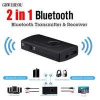 2019 nouveau 2 in1 sans fil Bluetooth émetteur Audio + récepteur 3.5MM RCA adaptateur récepteur de musique