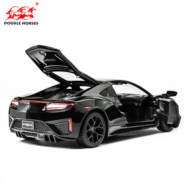 1 32 Toy Car Acura Nsx Metal Alloy Cast Model Miniature Scale Sound And Light Boy Toys For Children Gift