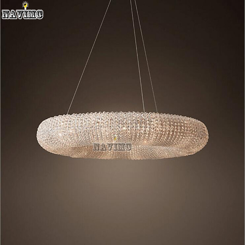 Luxury crystal pendant light for hotel foyer vanity pendant lamp luxury crystal pendant light for hotel foyer vanity pendant lamp round coffee house lighting fixture for kitchen island decor in pendant lights from lights aloadofball Images