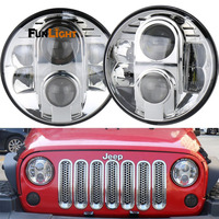 7 Inch H4 Aluminum 80W LED Headlight 7inch High Low Beam Led Headlamp For Land Rover