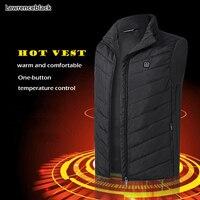 New vests Men Women Electric Heated Vest Heating Waistcoat USB Thermal Warm men's vest Cloth Hot Sale Winter Jacket men 6564
